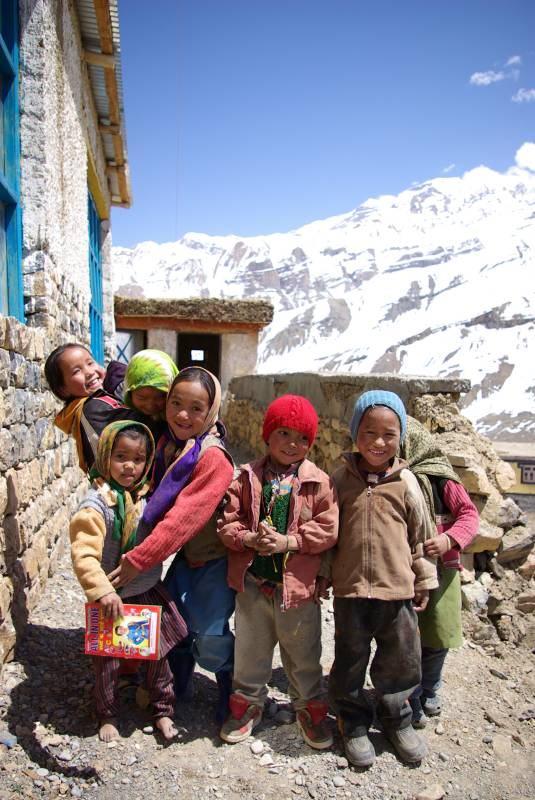 Children of Upper Gulling village, Pin river valley.